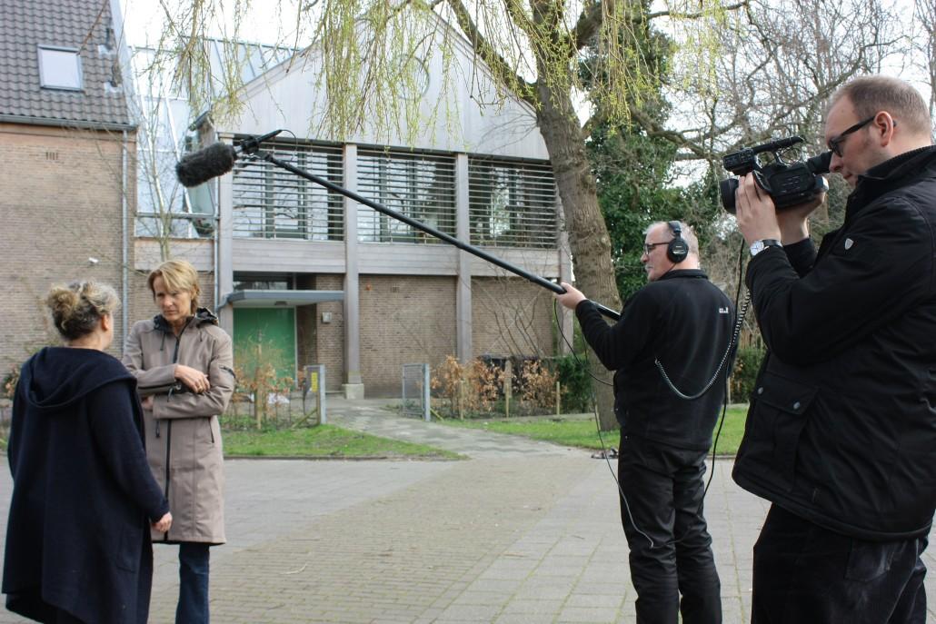 Tijdens de wintercursus moet geoefend worden met de hengel en camera.