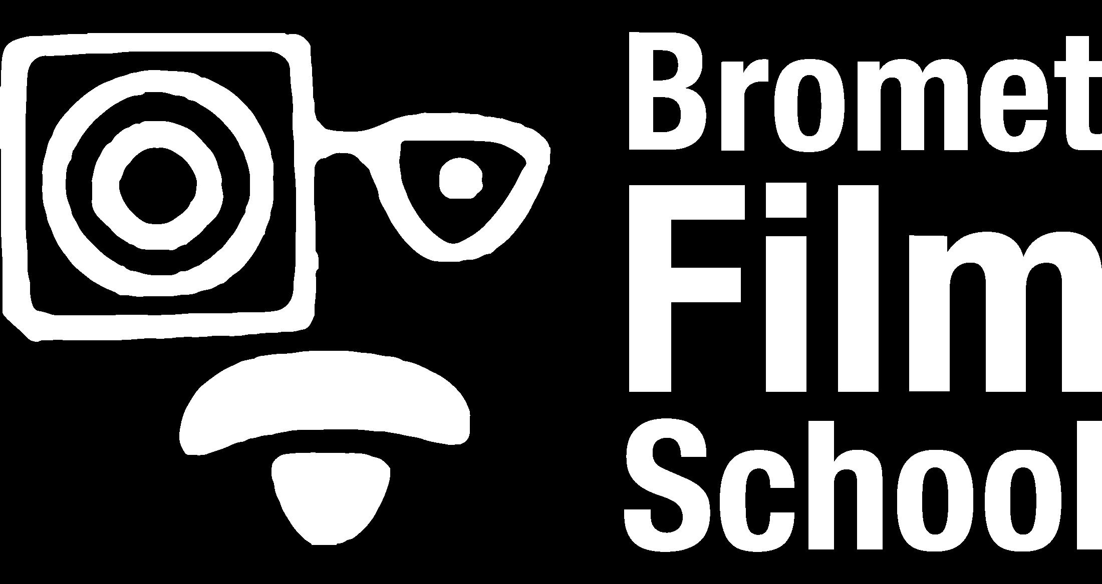 Logo Bromet Film School wit